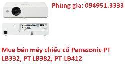 Mua bán máy chiếu cũ Panasonic PT LB332, PT LB382, PT-LB412